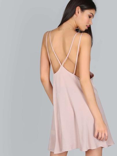 Strappy Mini Dress MAUVE