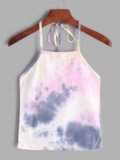 Halter Neck Water Color Cami Top
