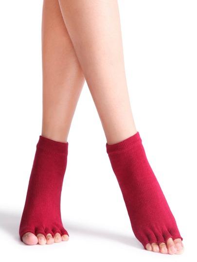 red antidérapantes moitié toe chaussettes