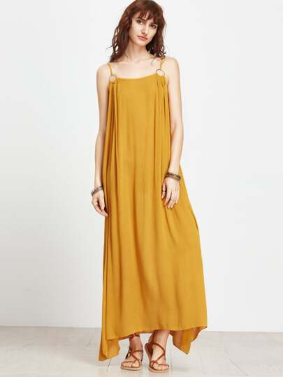 Spaghetti Strap Maxi Dress With Ring Detail