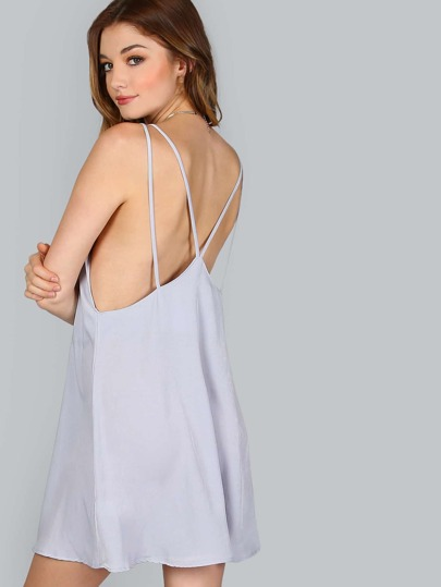 Strappy Mini Dress GREY