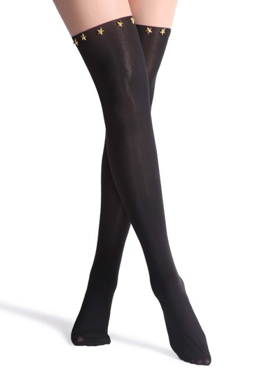 Two Tone Studded Tights