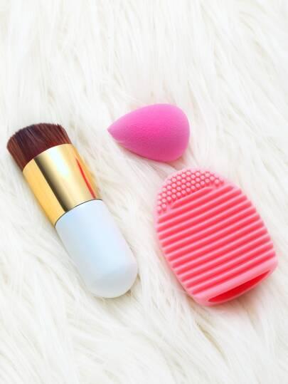 Set cepillo de maquillaje cepillo de limpieza soplo de polvo