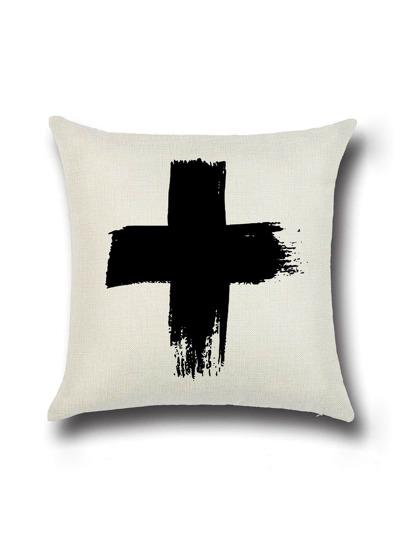 la croix blanche pour lin coussin