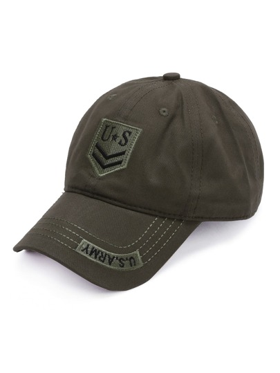 Army Green Letter Embroidery Baseball Cap