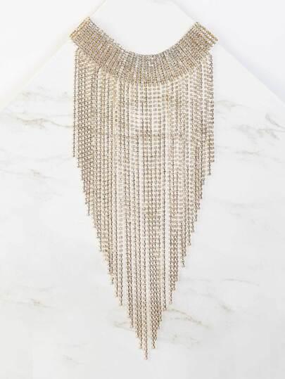 Bejeweled Metallic Bib Necklace GOLD