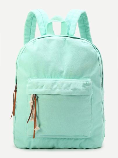 hellgrün reißverschluss - leinwand rucksack