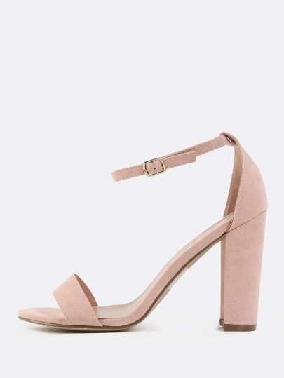 Open Toe Chunky Heels BLUSH