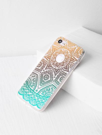Funda para iPhone 7 transparente con estampado tribal de ombré