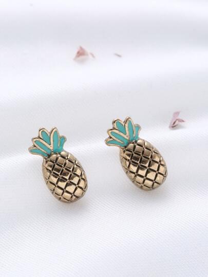 Boucles d'oreilles en forme d'ananas or