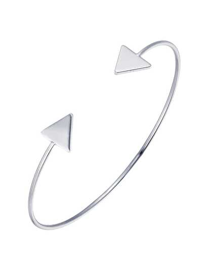 Silver Arrow Detail Cuff Bracelet
