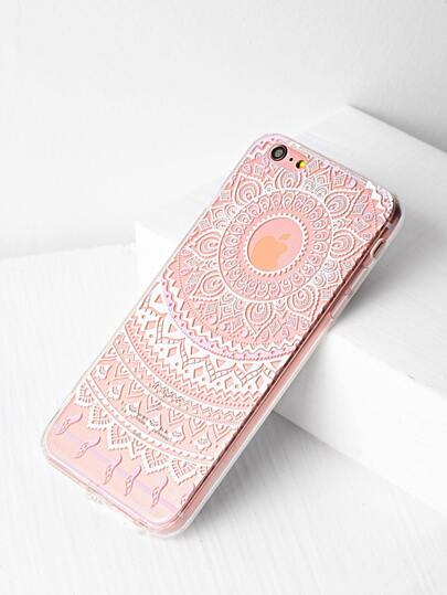 Funda para iPhone 6 Plus/6s Plus con estampado de flor étnica