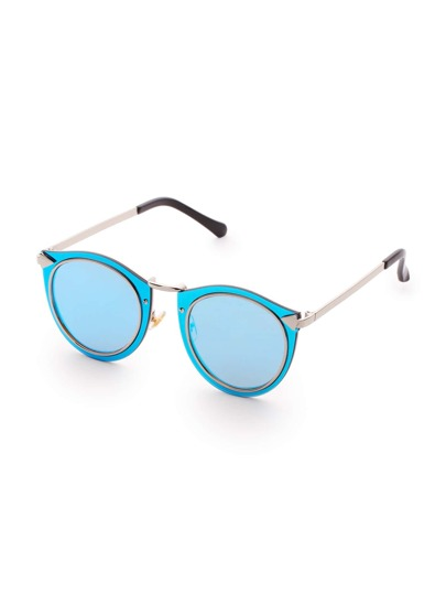 Double Frame Blue Lens Sunglasses