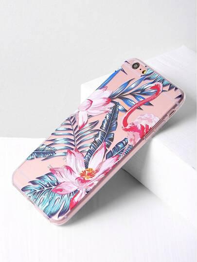 Leaf And Flower Print iPhone 6 Plus/6s Plus Case
