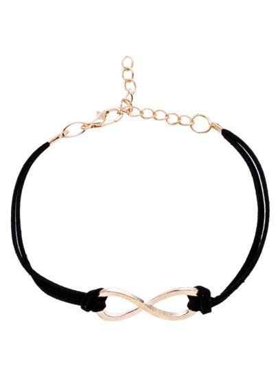 Bracelet noir croisé