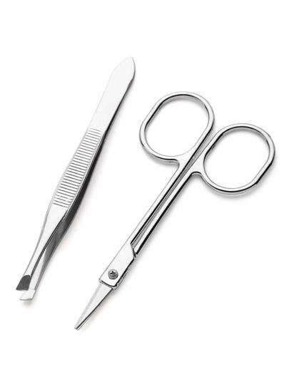 Scissor And Eyebrow Tweezers Set