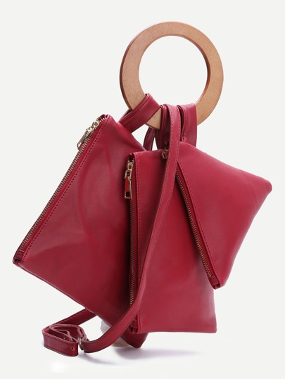 Ensemble de pochette rouge avec sangle