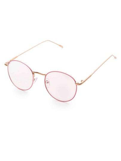 Pink Frame Clear Lens Glasses