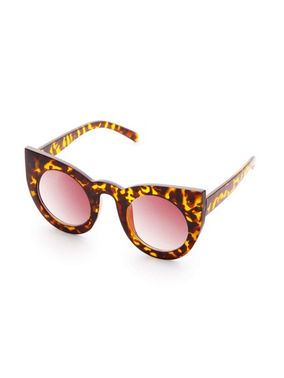 Leopard Frame Cat Eye Lens Sunglasses