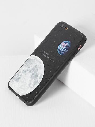 غطاء  طباعة  القمر لحماية أيفون 6/6s