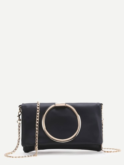 Ring Design Crossbody Bag With Chain