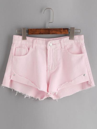 Pantaloncini di jeans - rosa