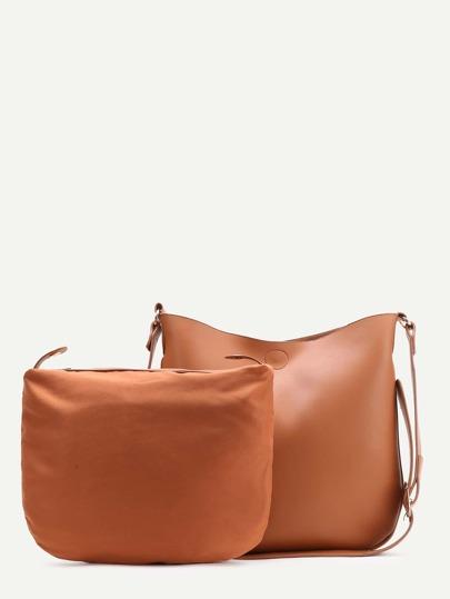 Brown sac à bandoulière occasionnels avec embrayages