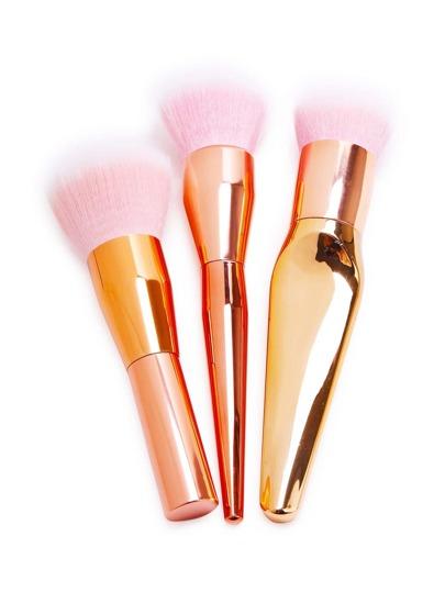 Ensemble de brosse de maquillage professionnel Rose-3PCS