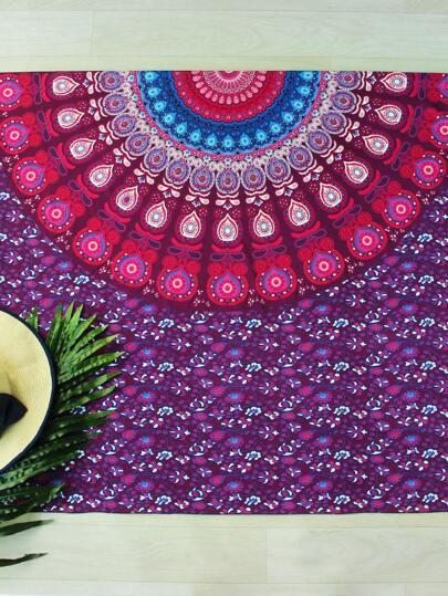 Multicolor Tribal Print Beach Blanket