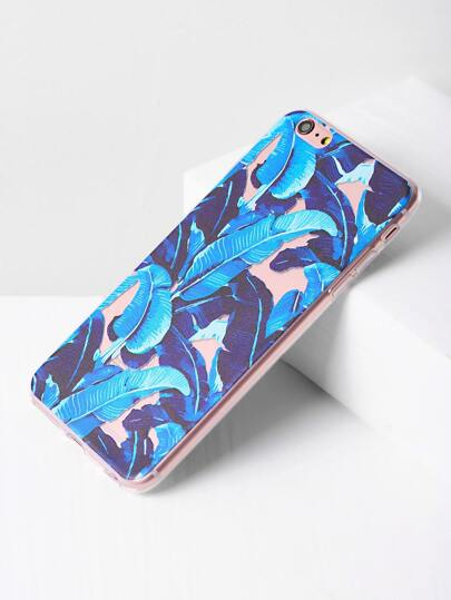 Cover per iphone 6 Plus/6s con stampa tropicale - blu