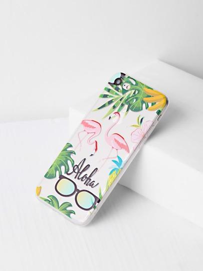 Flamingo und Sonnenbrille Posterdrucke iPhone 7 Fall