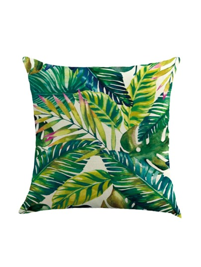 Couvre-oreiller plante verte