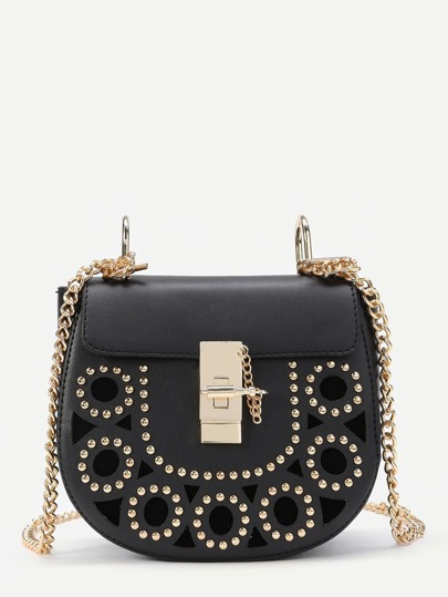 Creux Design Saddle Bag With Studded