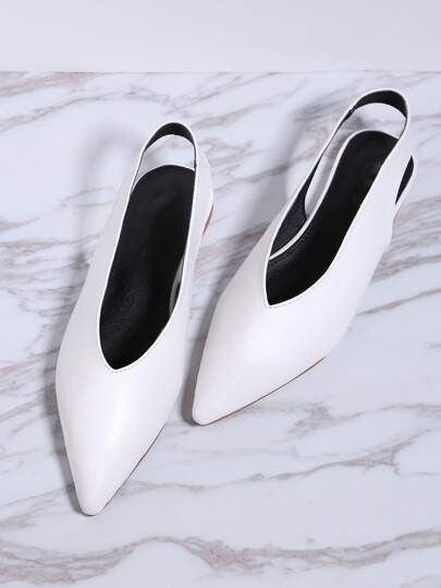 Pointed Toe Sling Back Flats