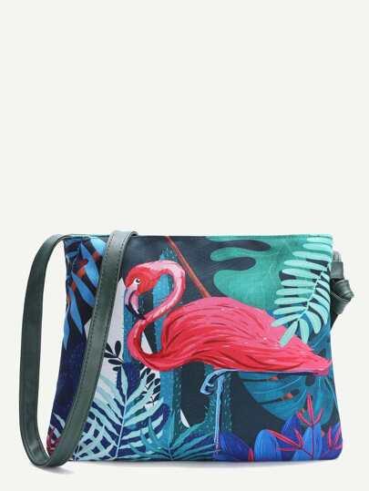 Bird Pattern Casual Shoulder Bag
