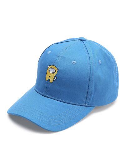 Cappellino con ricamo - blu