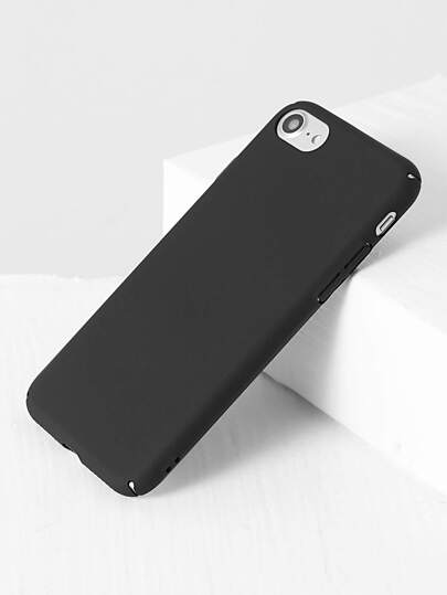 Caso 7 Plain iPhone In Black