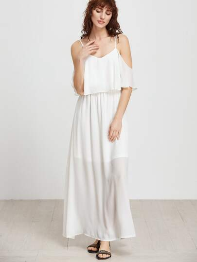 Cold Shoulder Layered Fly Away Dress