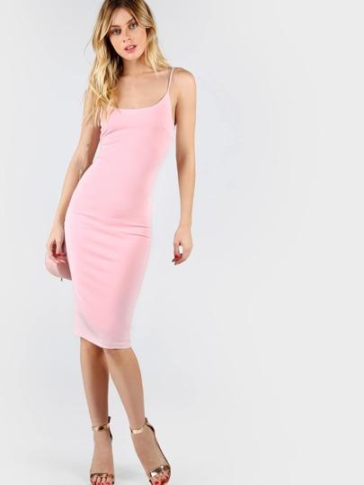 Pink Skinny Cami Dress