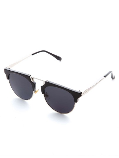 Black Frame Grey Lens Retro Style Sunglasses