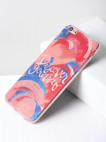 Letter Print Watercolor Design iPhone 6 Plus/6s Plus Case