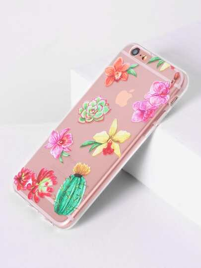Flower Stampa Cancella iPhone 6 / 6S Caso
