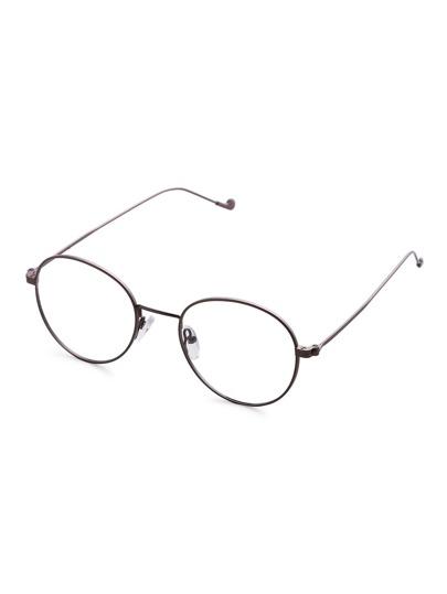Round Lens Retro Style Glasses