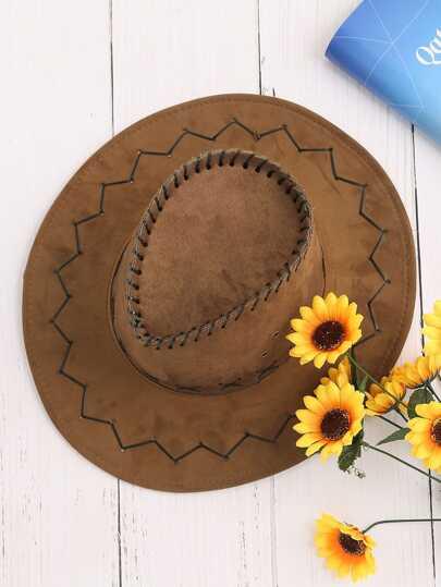 Chapeau de cowboy à larges bords