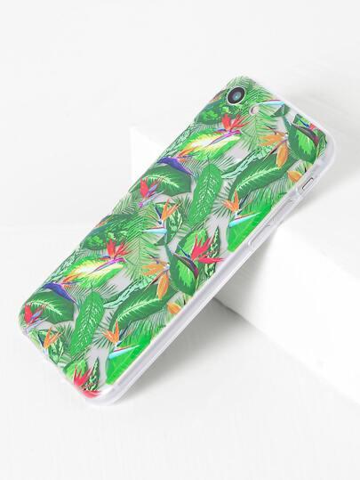 Funda para iphone 7 con estampado de hoja - verde
