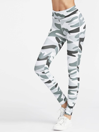 Leggings cheville camouflage