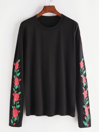 Florals Drop Shoulder T-shirt