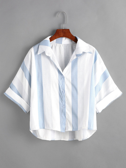 Blusa asimérica de rayas