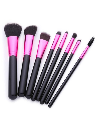 8PCS Wood Handle Cosmetic Brush Set