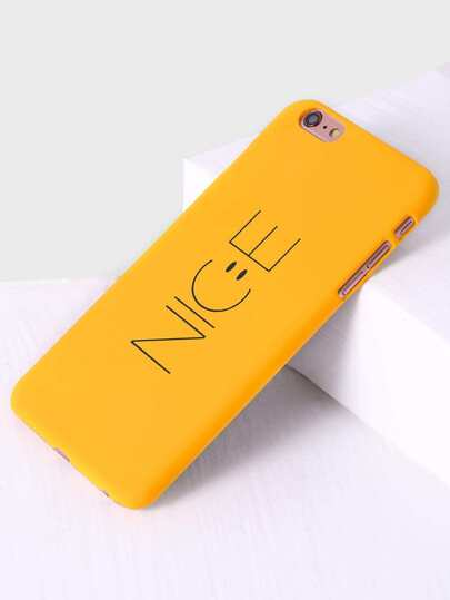 Yellow Letter Print iPhone 6s Plus Case
